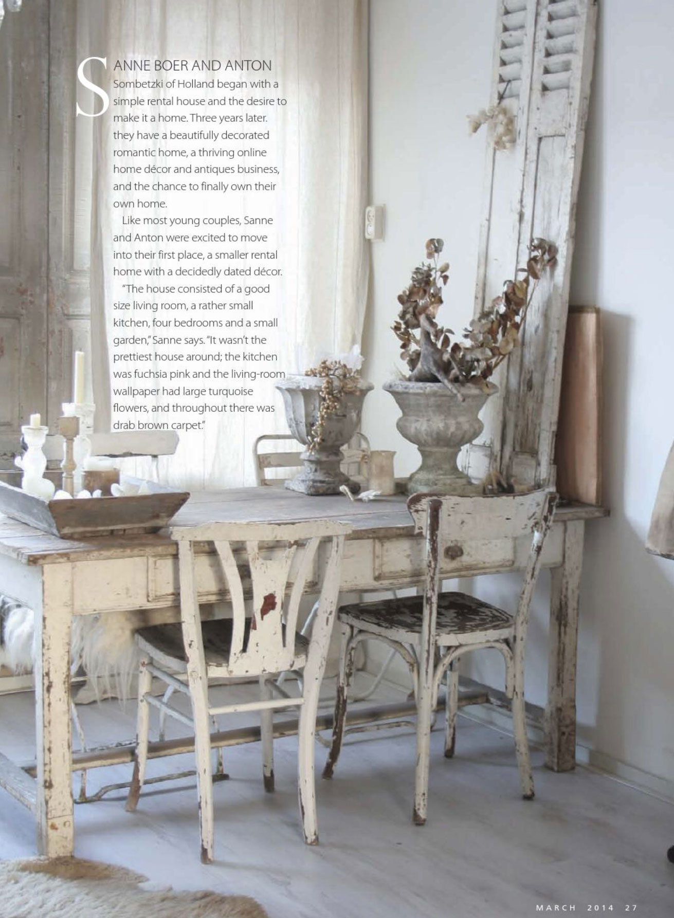 Shabby Chic Look House To Home Shabby Chic Style Interiors By Color