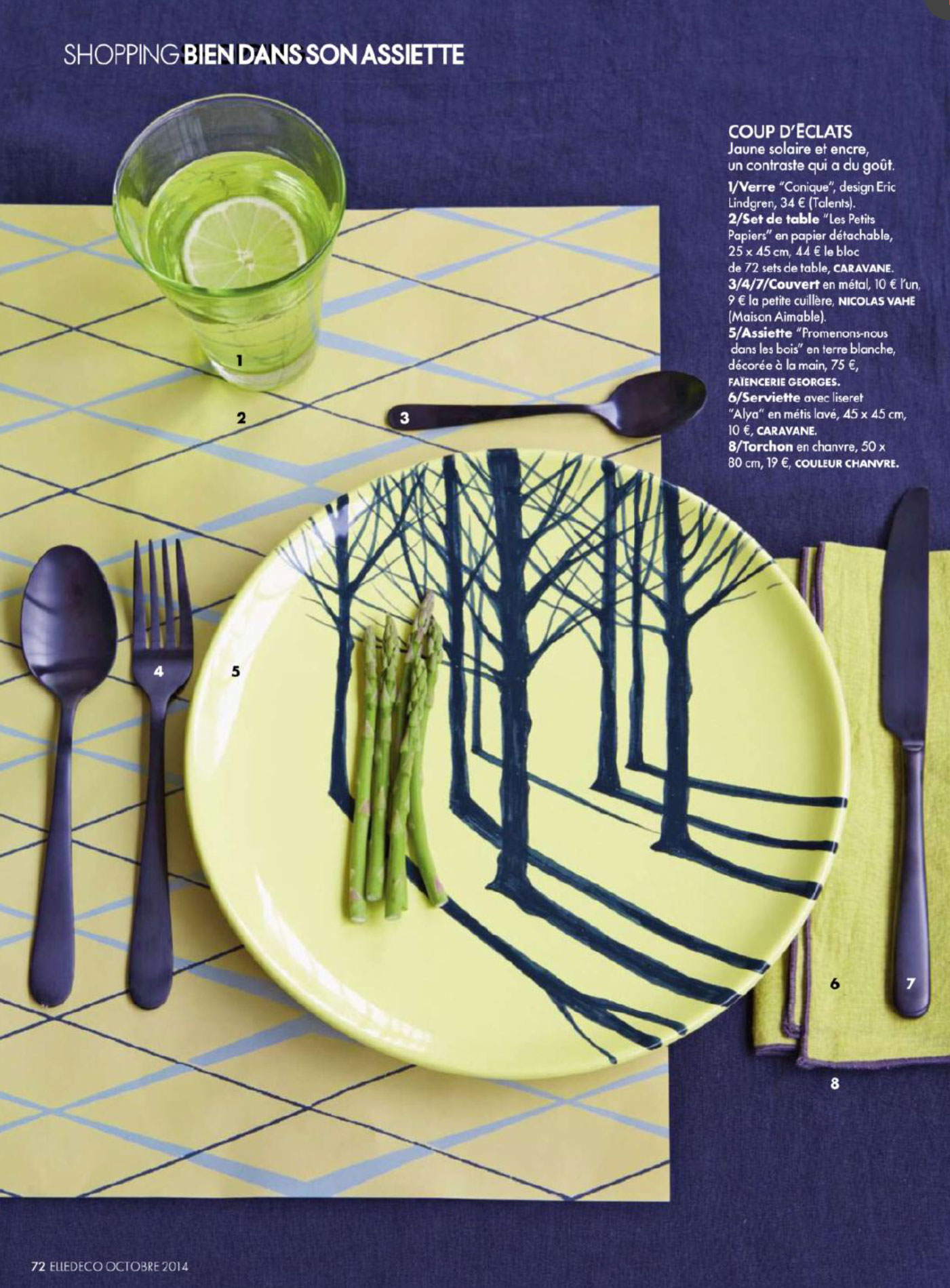 Elle Decoration France Table Settings Editorial From Elle Decoration France