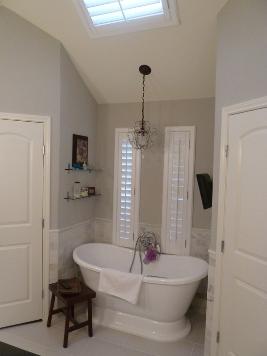 Sherwin Williams Alpaca Master Bath Remodel In Sherwin Williams Repose Gray