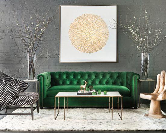 Interieur Groen Goud Contemporary Living Room In Green And Gold - Interiors By