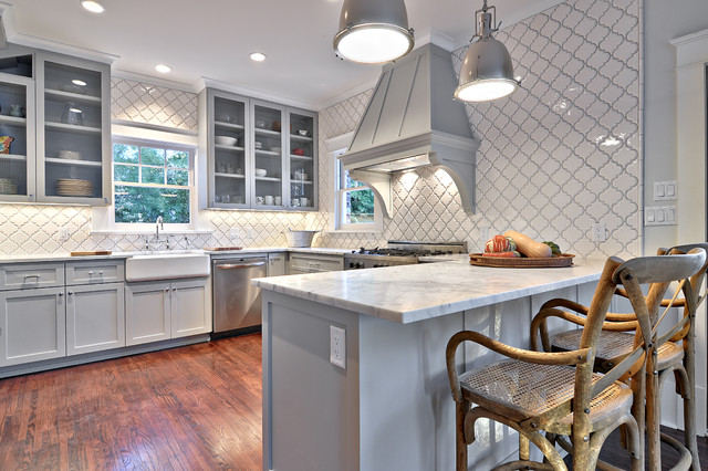 Benjamin Moore Beach Glass 12 Beautiful Gray Kitchen Cabinets - Interiors By Color