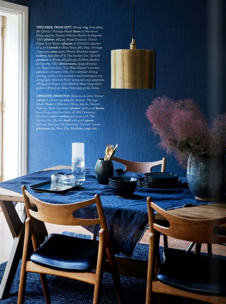 Dining Table Rug Midnight Express - Colour Your Home In Indigo - Interiors