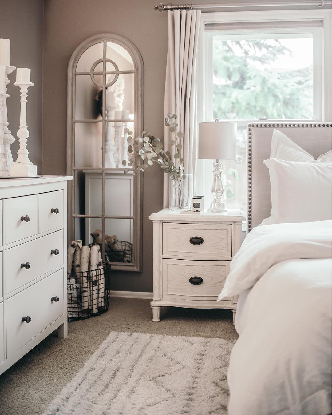 Bedroom Decorations Pinterest Houses Of Instagram A Bedroom In Calm Tones Of White And