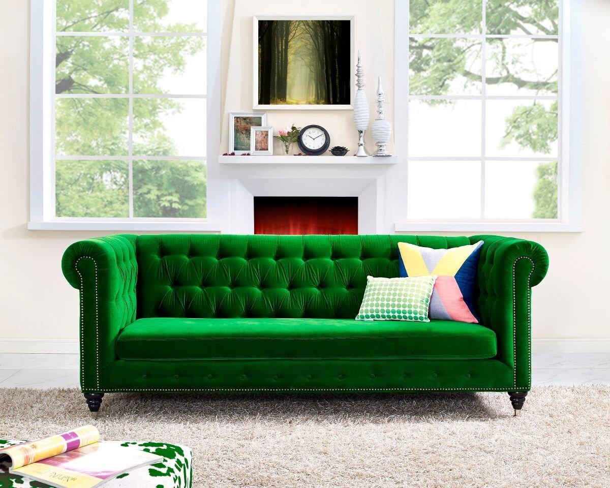 Green Settee Emerald Sofa Interior Design Trend 2017 Interiors By Color