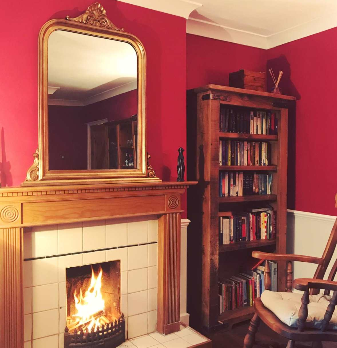 Red Wall Living Room Farrow And Ball Rectory Red Paint Color Schemes Interiors