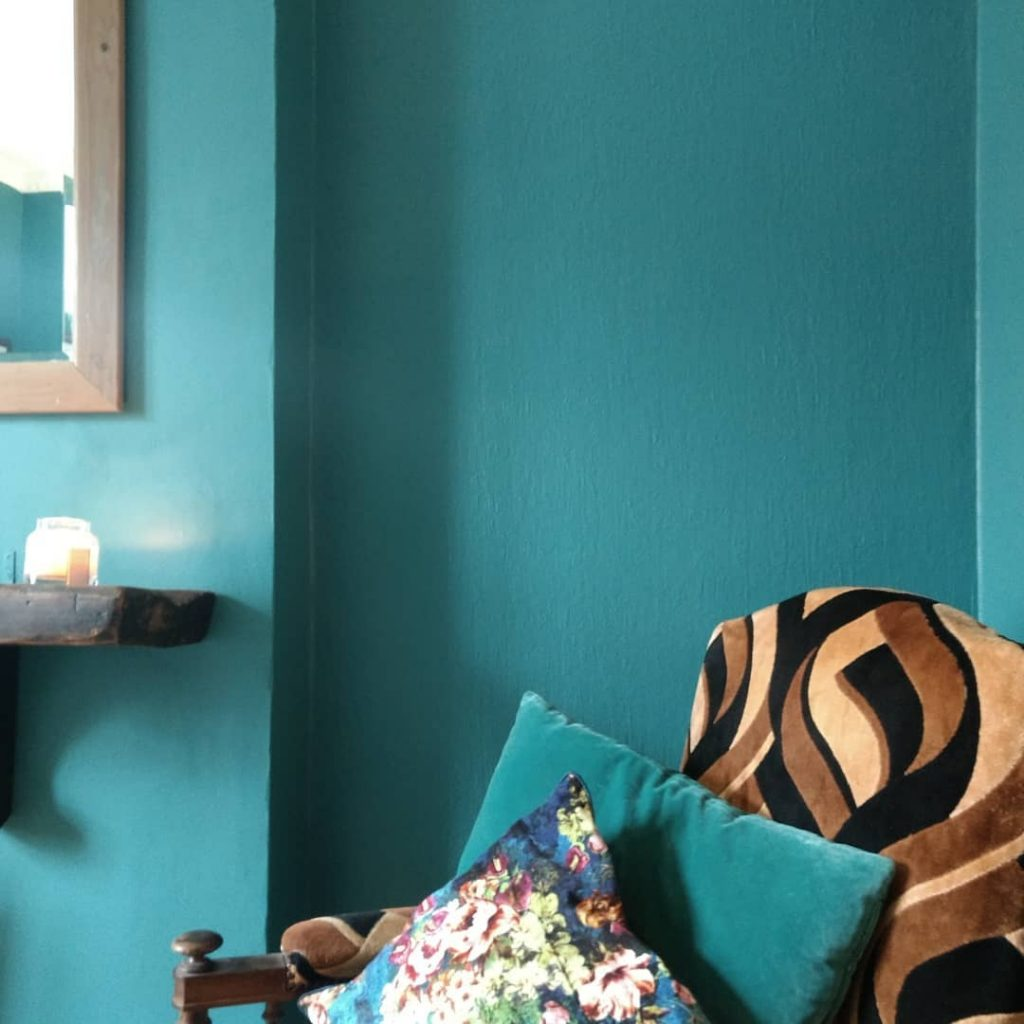 Living Room And Kitchen Combined Farrow & Ball Vardo - Interiors By Color