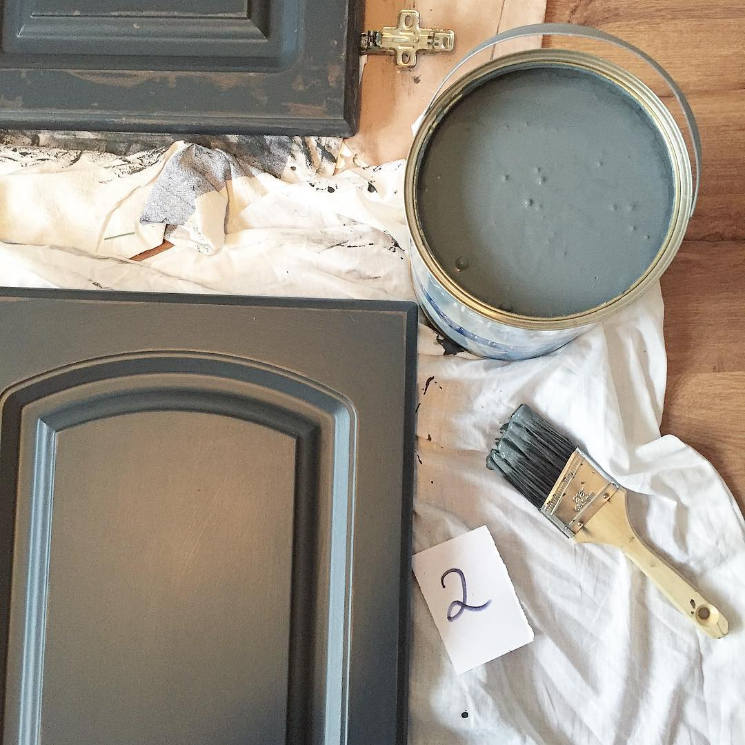 Grey Painted Kitchen Walls Valspar Gray Shingle Painted Kitchen Cabinets Interiors
