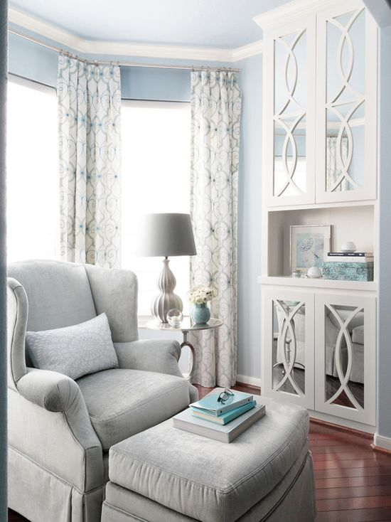White Master Bedroom Benjamin Moore Brittany Blue Bedroom - Interiors By Color