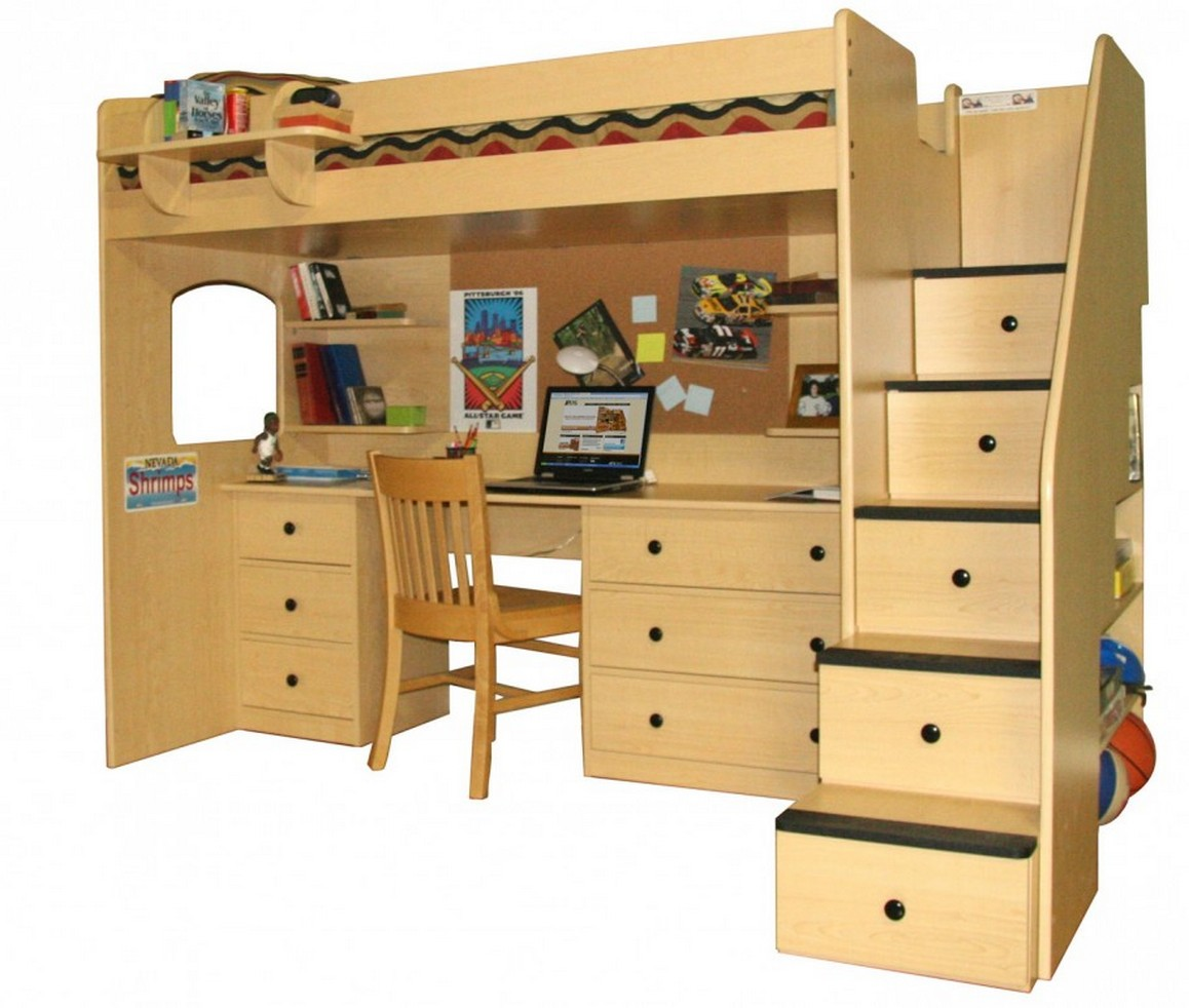 Wood Loft Advantages Of Wood Loft Bed With Desk Stylish Home