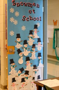 christmas door decorating ideas for teachers | just b.CAUSE