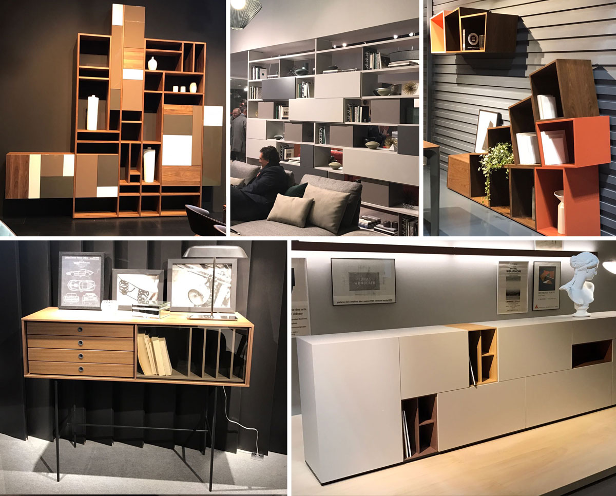 Estanterias Salon Estanterias Salon Del Mueble Milan 2017 Interley Interiores