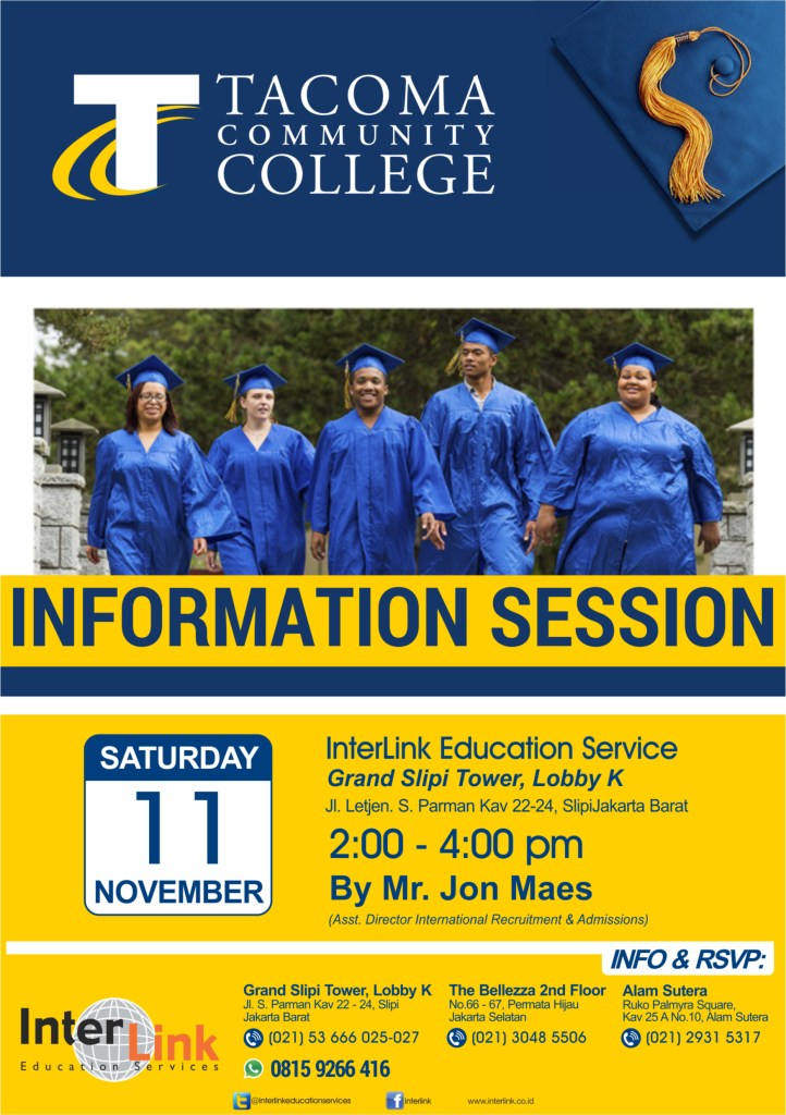 Tacoma Comm College Info Session