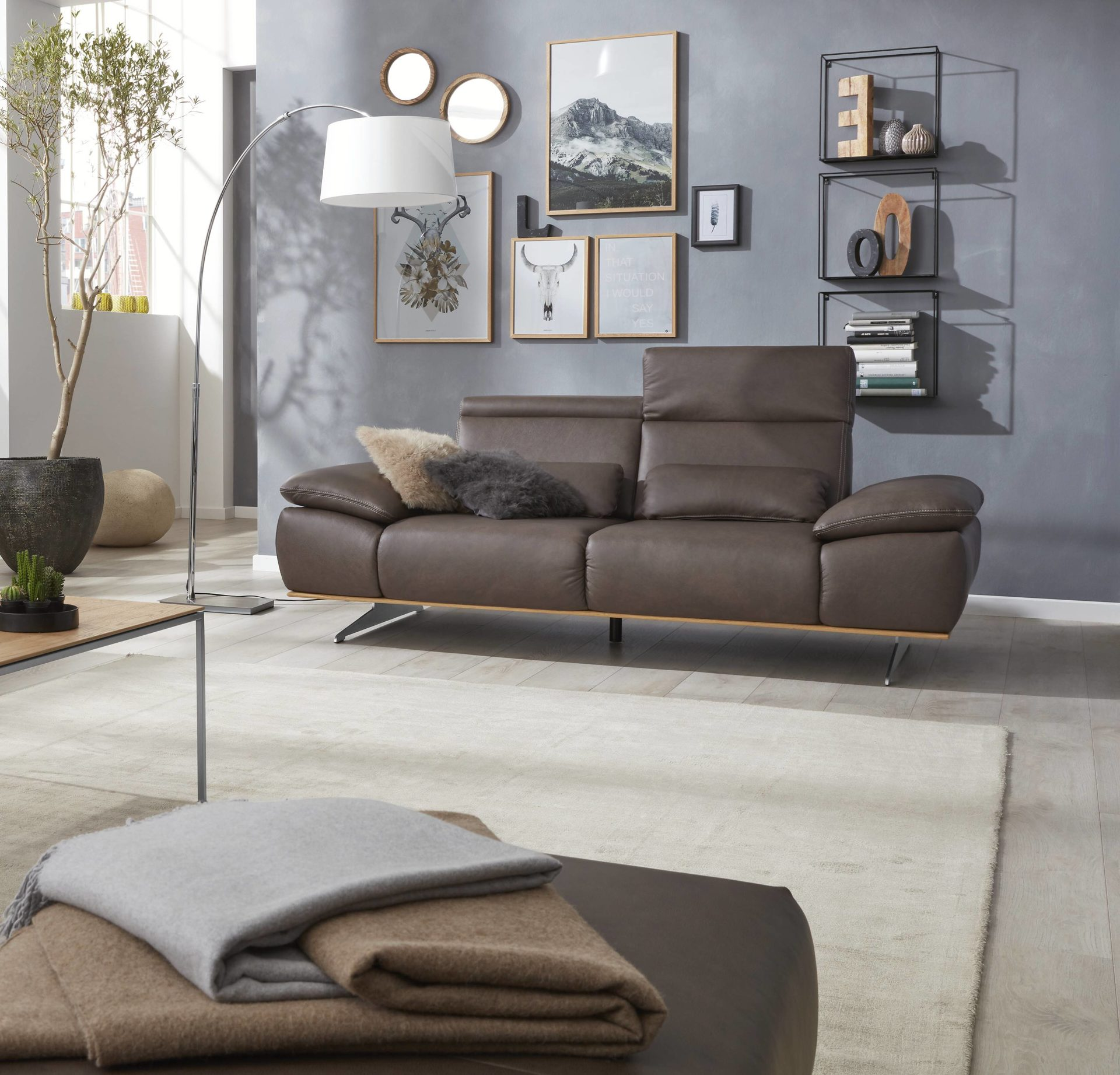 Interliving Sofa Serie 4350 2 5 Sitzer Braunes Leder Rodeo Goa Länge Ca