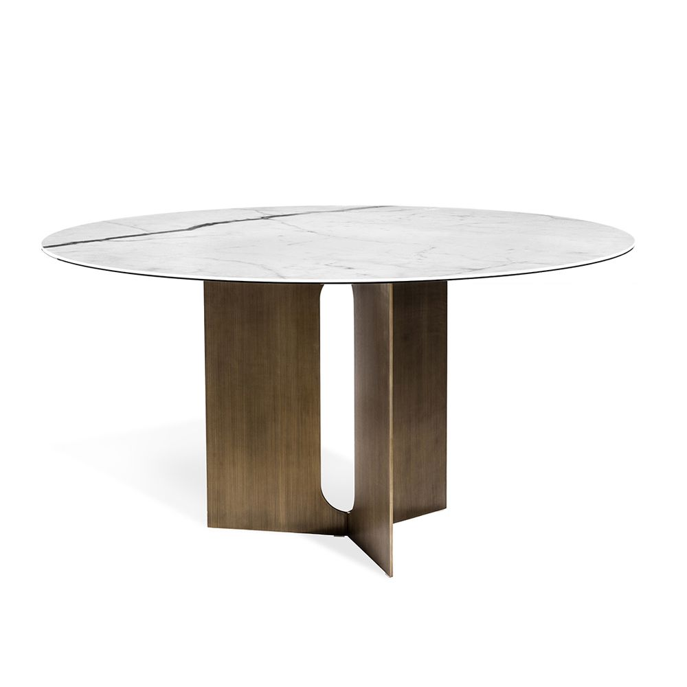 Table Luxe Pierre Dining Table Bronze