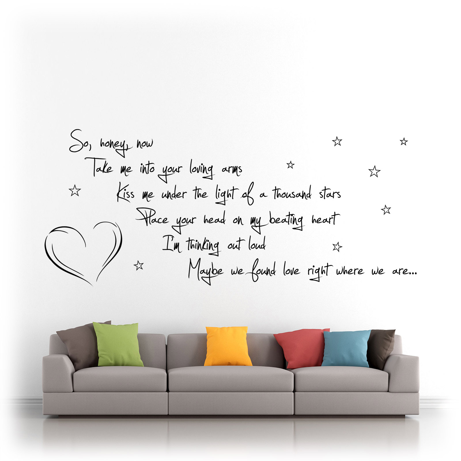 Sofa Lyrics By Ed Sheeran Details About Ed Sheeran Thinking Out Loud Song Lyrics Vinyl Wall Art Silhouette Es1b Matt