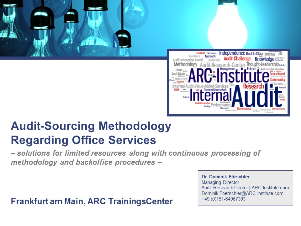 ARC Audit Training  Consulting Services - Interne Revision Training