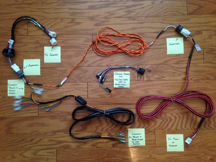 Wiring diagram for Yamaha Command Link Tachometer Kit Bloodydecks