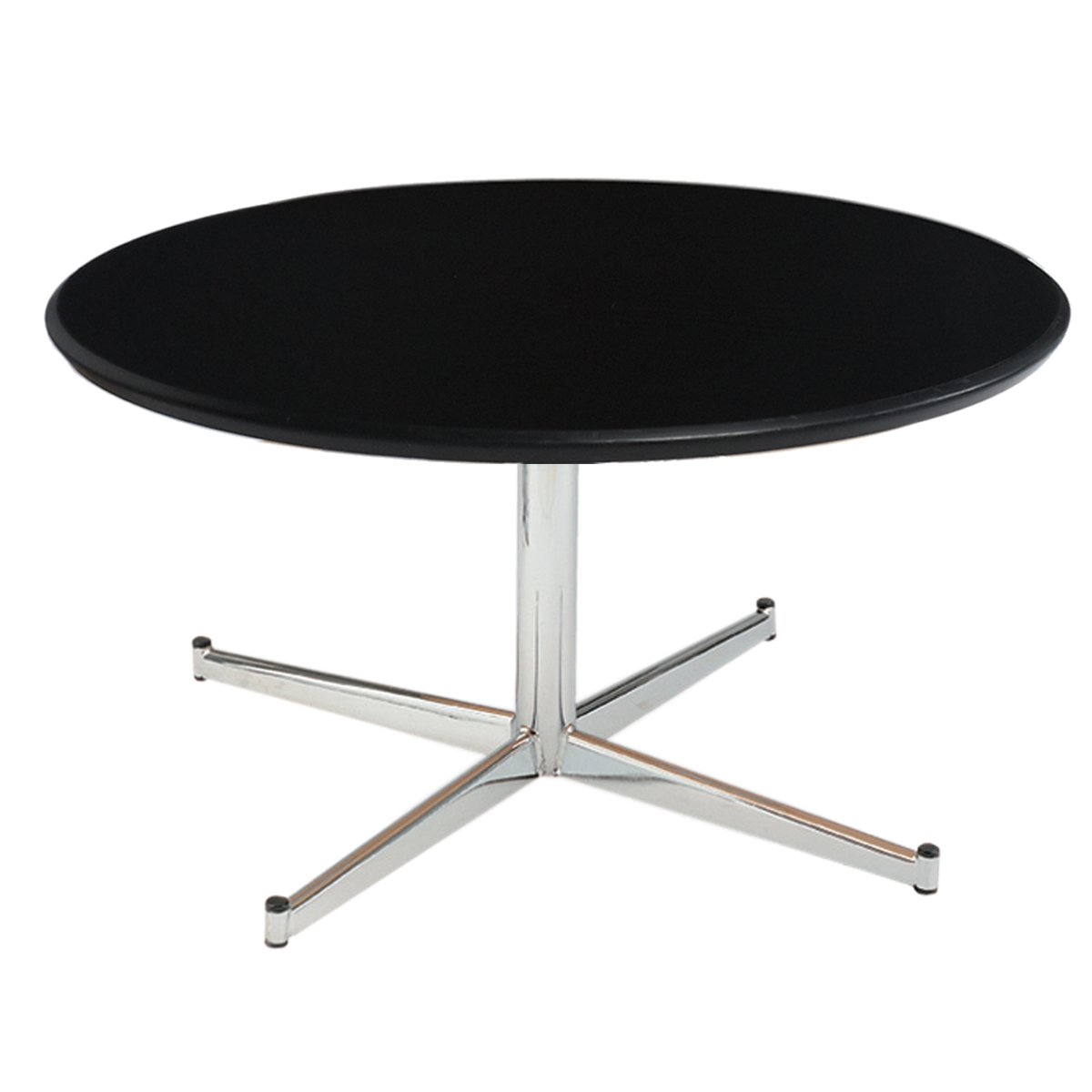 Low Black Table Black Malouines Low Table Ø 60 Internation Moduling