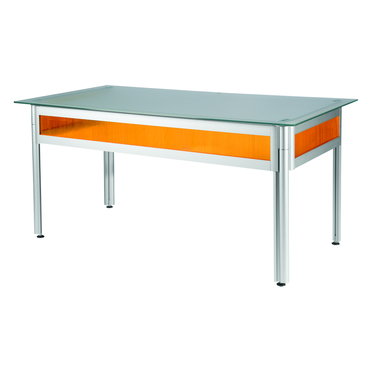 Bureau 150x80 Bureau Flashy Orange Plateau Verre Opaque 150x80