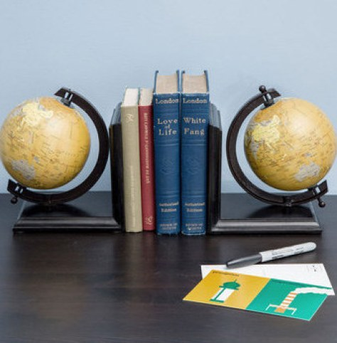 These globe bookends: