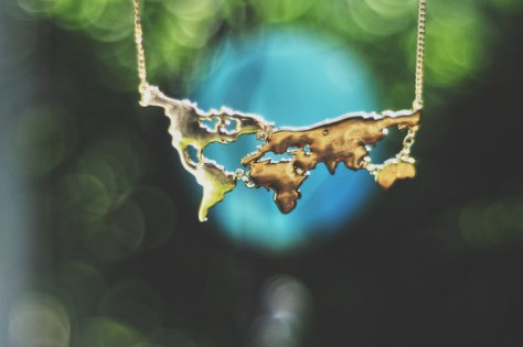 This map necklace: