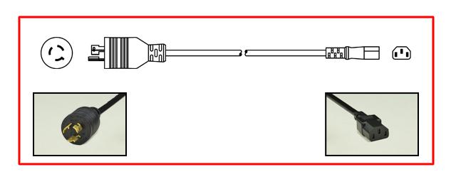 NEMA L21-30P LOCKING PLUG, 30A-120/208V AC, 3 PHASE, CABLE ENTRY