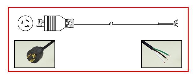 15 AMPERE-250 VOLT NEMA L6-15R UL 498, NEMA L6-15R, ANSI C7374