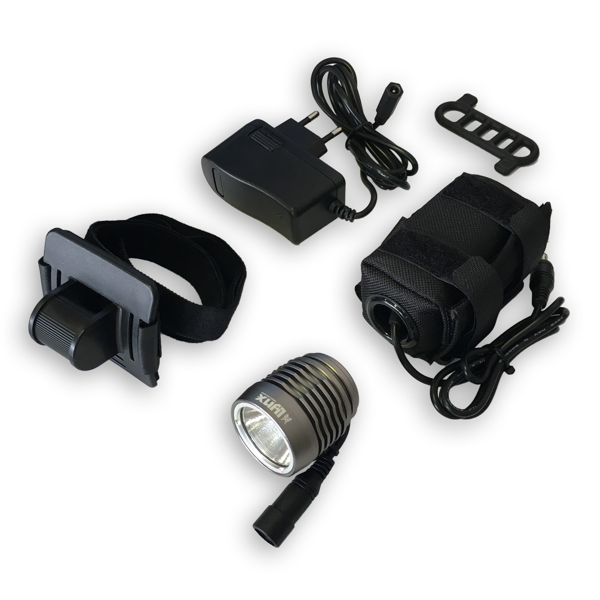 Adapter Led Verlichting Lynx Headlight Pro High Power Led Battery Grey Internet Bikes
