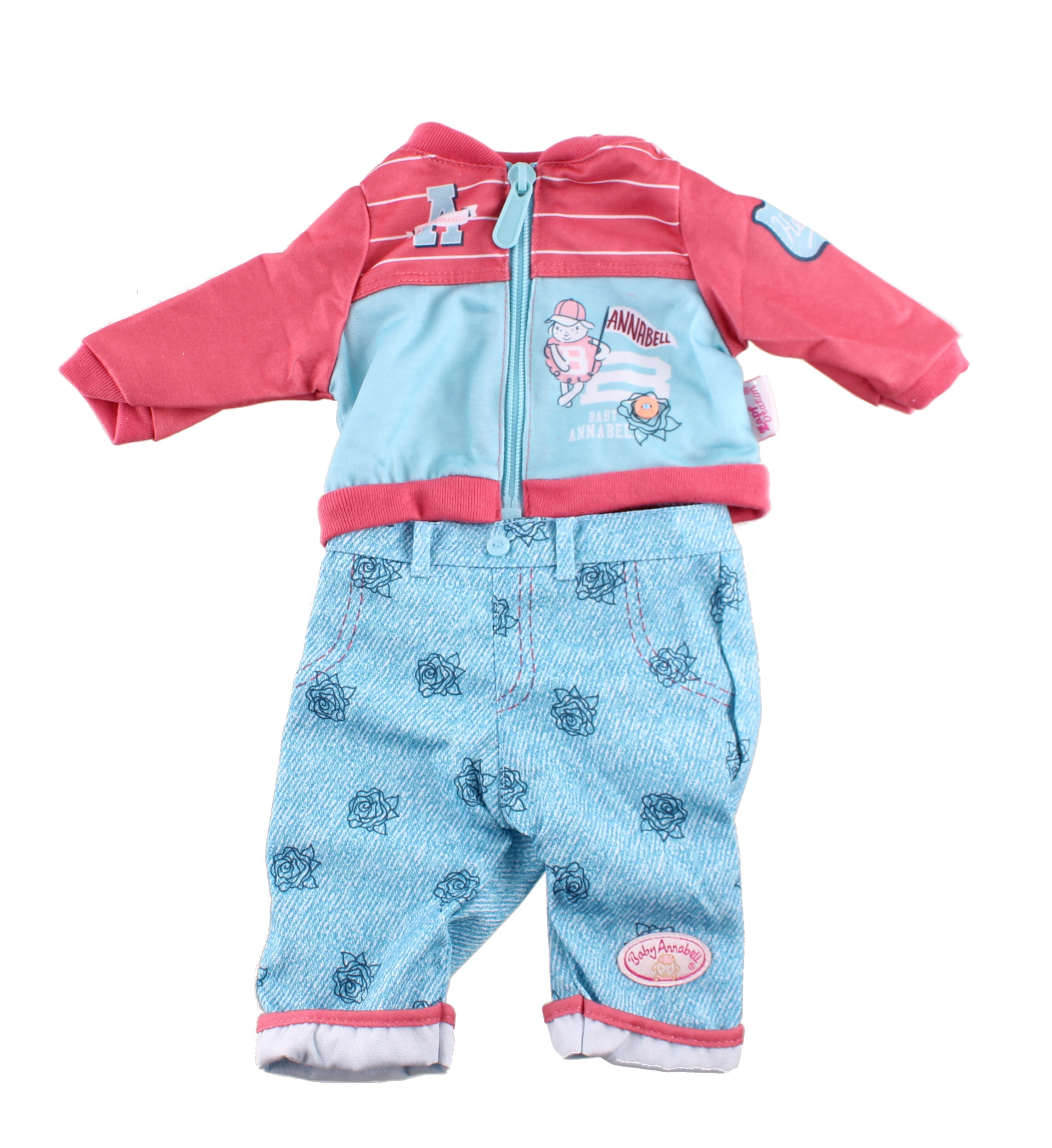 Bad Set For Baby Baby Annabell Clothes Set For Doll Of 46 Cm Blue 2 Piece