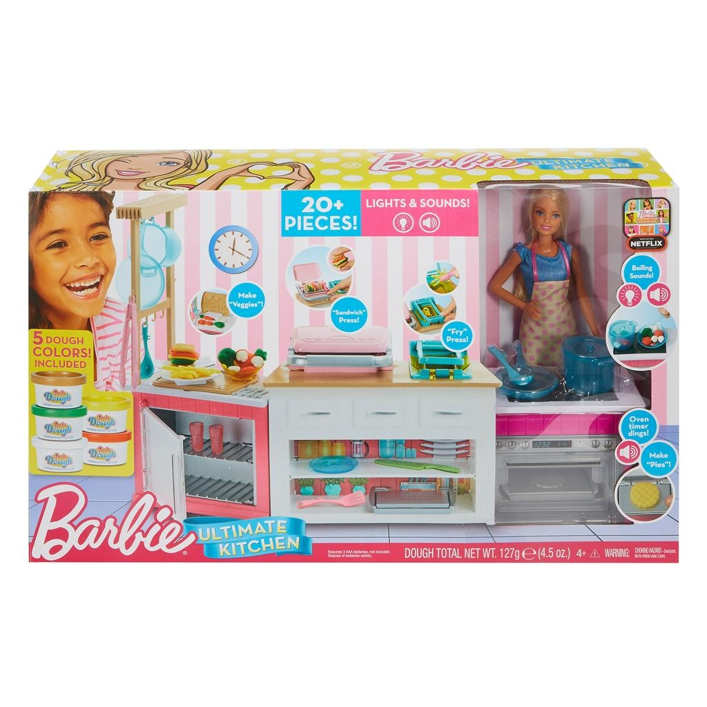 Barbie Küche Barbie Ultimative Küche Mit Barbiepuppe 20 Teilig Internet Toys