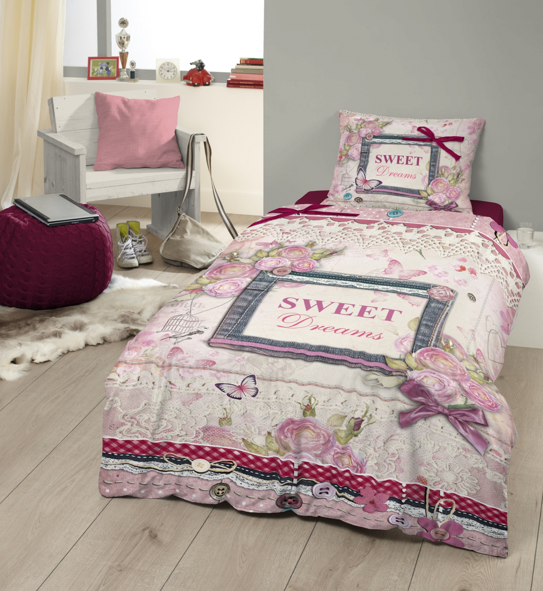 Bettdecken 220 Lang Sweet Dreams Bettdecke 140 X 200 220 Cm Rosa