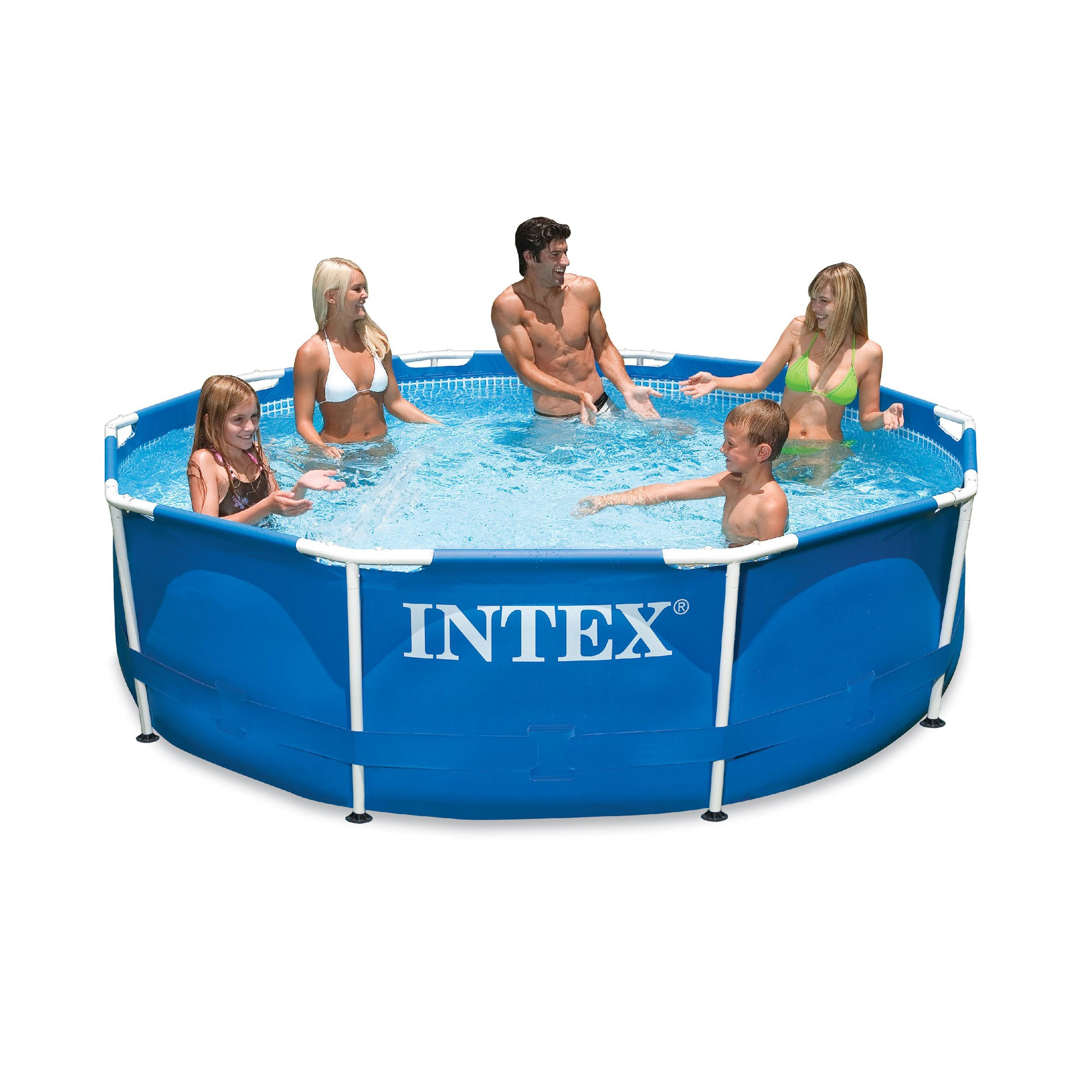 Zwembad Heater Intex Metal Frame Pool 366 X 76 Cm With Pump Blue