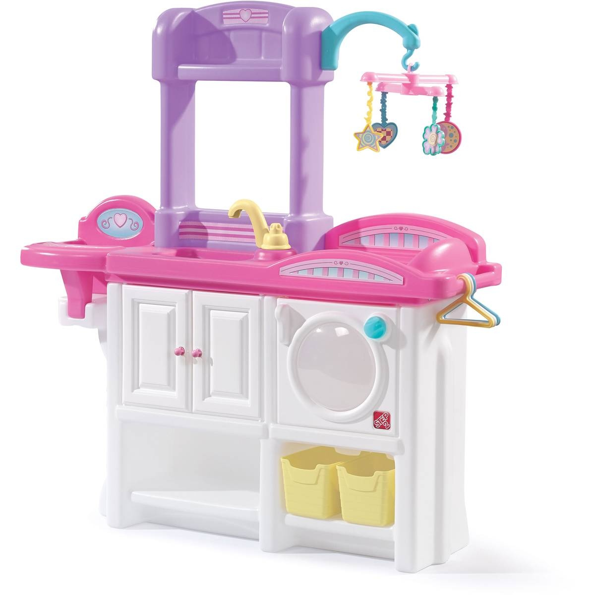 Baby Doll Küche Step2 Kommode Love & Care Deluxe Kinderzimmer Weiß/rosa 95