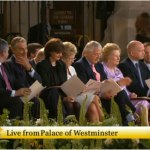 Blair, Brown y Thatcher esperan al Papa