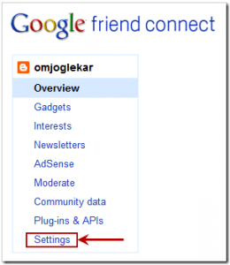 Aplicación Google Friends Connect