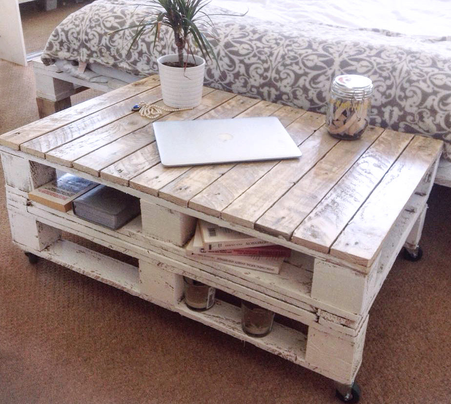 Couchtisch Home 24 Reclaimed Wood Pallet Coffee Table - Internet Vs