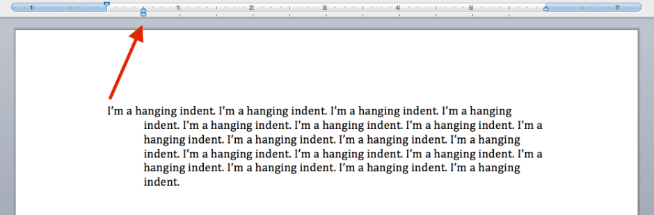 Hanging Indent