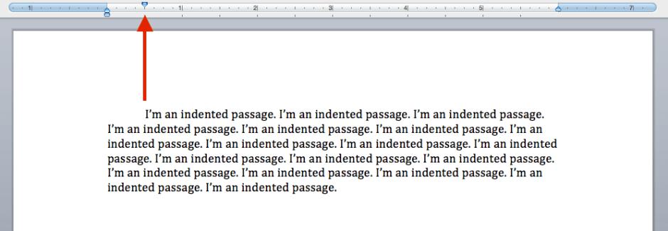 Paragraph indent