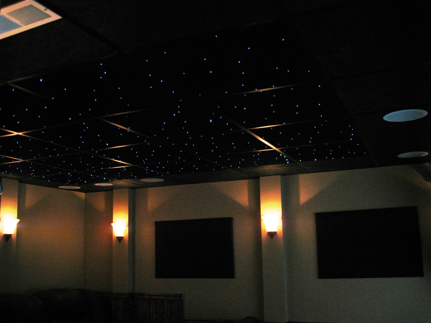 24x24 Skylight Fiber Optic Star Ceiling Panels Made With Quality Acoustic
