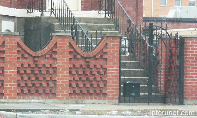 Brick Fence Metal Gates Design Picture   Interunet