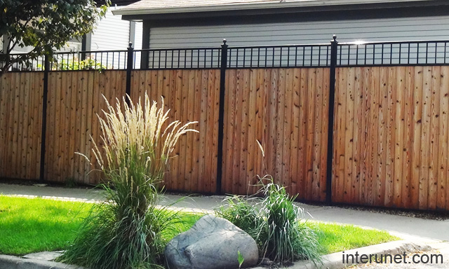 Metal And Wood Fence Designs