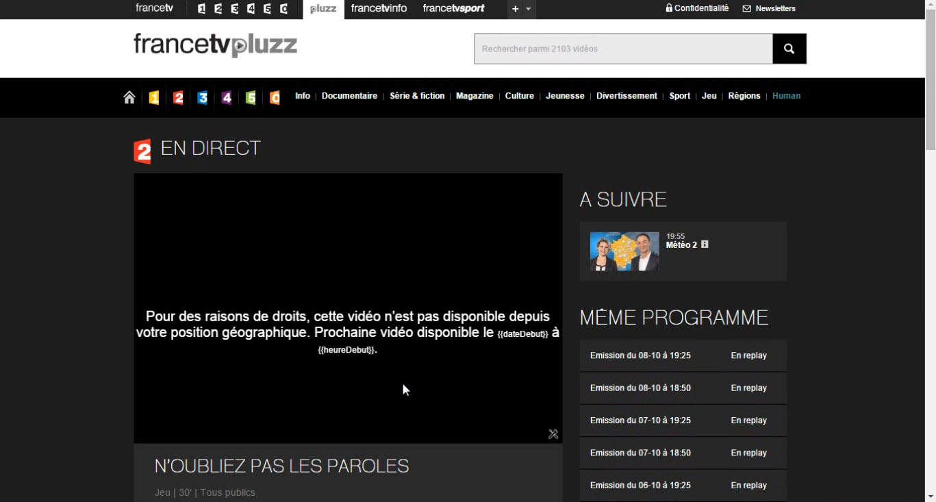 France 3 Tv Pluzz Replay How To Unblock And Watch French Tv Outside France Intervpn