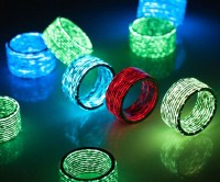 Carbon Fiber Glow In The Dark Rings - INTERWEBS