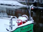 Sailing tjalk Jantje at Nordhorn, winter 2010