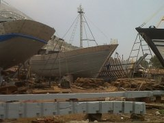 Boat building at Agadir, Morocco