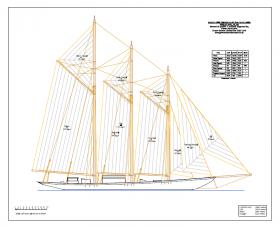 Radclyffe Design no 97 50m schooner