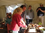 Cutting the rally cake... Nick Ardley