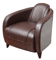 Aviator Leather Side Chair - Event Rental