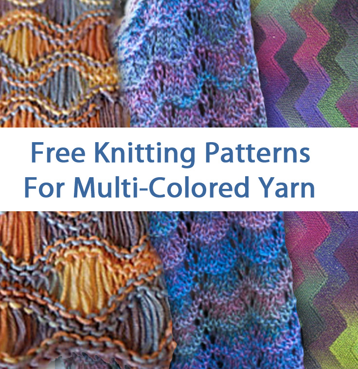 Knitted Dishcloth Patterns For Variegated Yarn : Multi-colored Yarn Free Knitting Patterns In the Loop Knitting