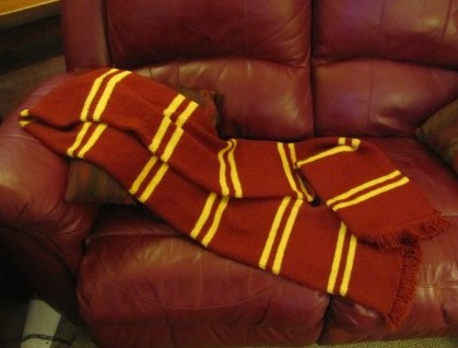 Free knitting pattern for Harry Potter Prisoner of Azkaban scarf